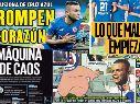 Cruz Azul se llevó las portadas de diarios este martes.
