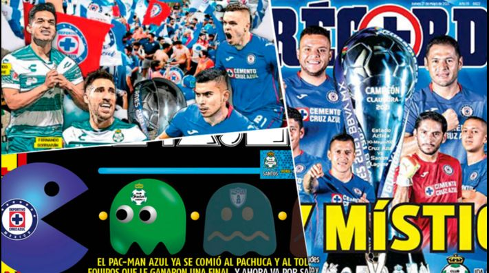 Portadas de los periódicos le piden a Cruz Azul que le gane a Santos en Torreón.